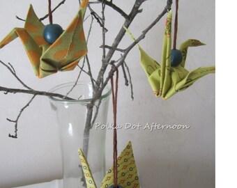 Fabric Origami Crane - Set of 3