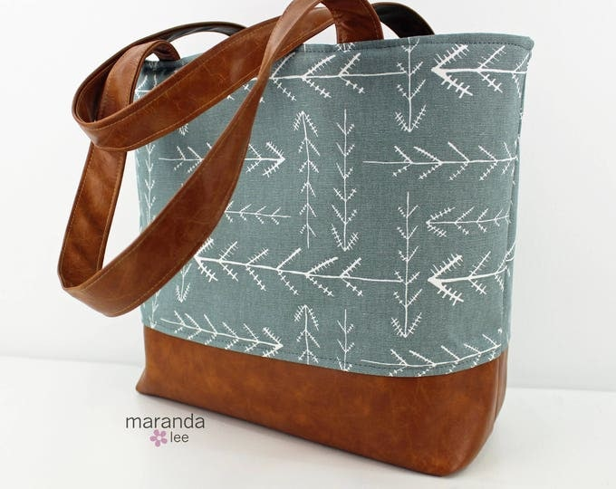 Lulu Large Tote - Native Grey - READY to SHIP