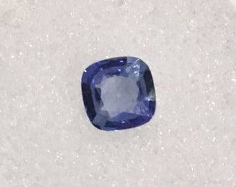 1ct Cushion Cut Blue Sapphire