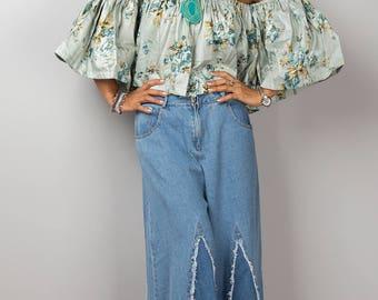 Open shoulder top, Shoulderless top, off the shoulder top, off shoulder top, summer top, crop top, beach wear, festival outfit