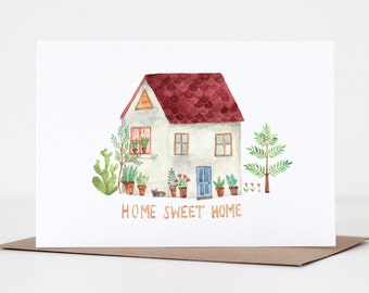 Home Sweet Home Card New Home Card Moving House Card