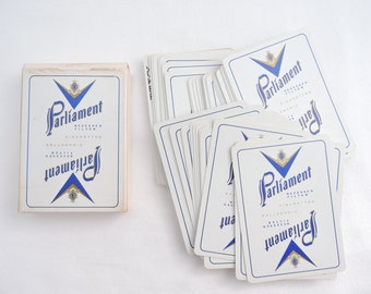 Vintage 1960's Parliament Cigarettes Playing Cards - Complete Deck - Advertising Promotional