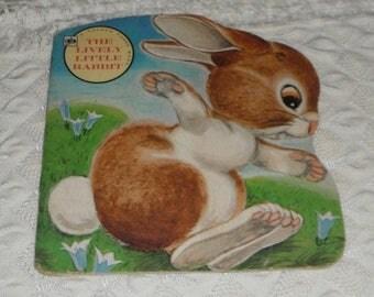 Vintage A  Golden Shape Book The Lively Little Rabbit 1972