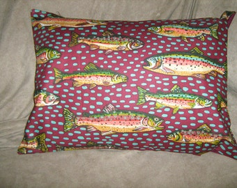 TROUT FISH  Travel/Accent/Lumbar pillow cover