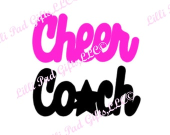 Cheer Coach- Cut File - Instant Download - SVG and DXF for Cameo Silhouette Studio Software & other Cutter Machines