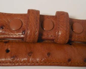 1990s Ferrini Italia Genuine Ostrich Belt, Leather Farm Ranched & Made in South Africa, Vero Struzzo, Vintage Ostrich Western Belt, WESTERN