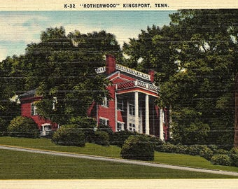 Kingsport, Tennessee, Rotherwood - Vintage Postcard - Linen Postcard - Postcard - Unused (FF)