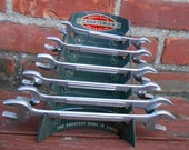 Vintage Craftsman Metal Wrench Holder Advertising Display Retro Garage Man Cave