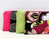 Cash Envelope System - Cash Budget System - 4 Cash Budget Envelopes with Zippers - Ready to Ship