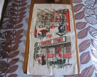 Country Store Linen Tea Towel 1966