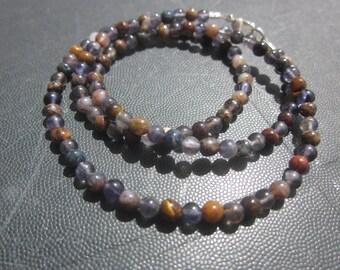 for him: Pietersite Iolite Necklace