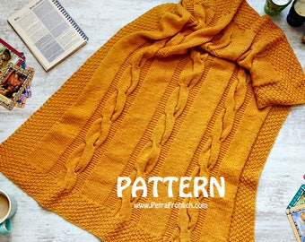 Knitting Pattern - Cable Blanket - Baby Size, Lap Size (Pattern No. 073) - INSTANT DIGITAL DOWNLOAD
