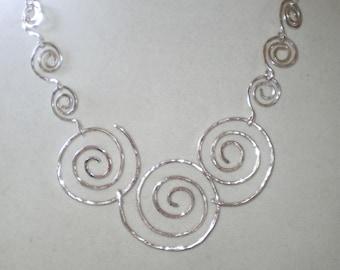 Silver Swirls Necklace