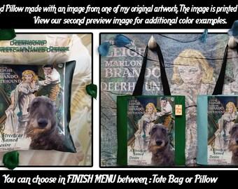 Scottish Deerhound Pillow or Tote Bag/Scottish Deerhound Art/Dog Tote Bag/Dog Pillow/Dog Art/A Streetcar Named Desire Movie Poster