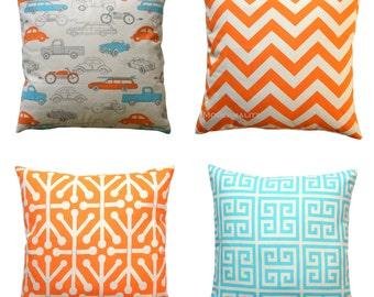 orange pillow cover etsy