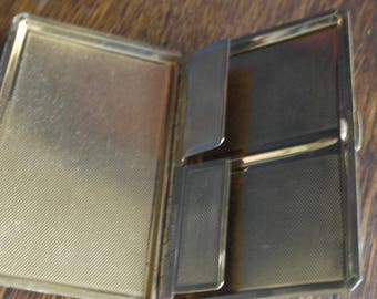 vintage brass cigarette case
