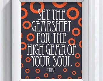 Phish Lyrics - Antelope - 11x14 - poster print