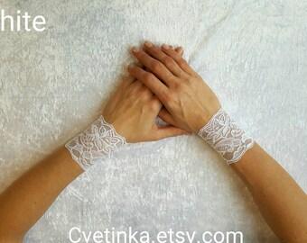 LACE ARM BANDS | Lace Bracelets | White Wrist Cuffs | Lace Wristbands | Lace Bracelet | Fetish Bracelets | White Lace Cuffs