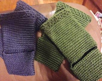 Crochet - Crocheted Yoga Socks - Dance Warmers - Pilates - Stocking Stuffer  - Exercise Socks - Leg Warmers - Yoga Apparel-  Gift For Mom