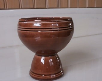 Vernon Kilns Egg Cup Brown Early California Double Egg Cup