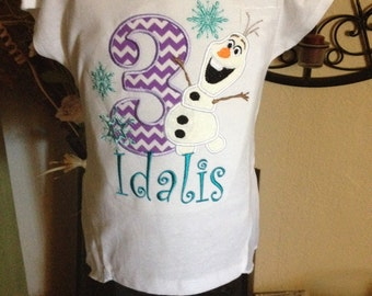 Girls Olaf shirt Birthday shirt