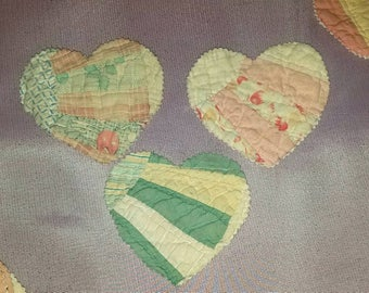 Vintage Cutter Quilt Heart Cut Outs