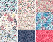 """New season niner, 36 Liberty print charm pack from the s/s 2017 collection, 5"""" patchwork squares"""
