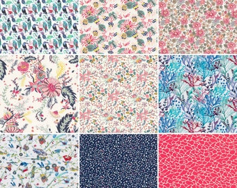 "New season niner, 36 Liberty print charm pack from the s/s 2017 collection, 5"" patchwork squares"