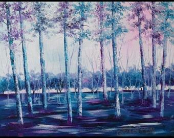 "Secret Forest, an original 14"" x 18"" oil painting by Jo Edwards"