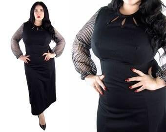Plus Size 1970's Deadstock Maxi Dress - Size XL