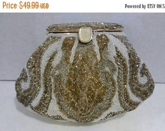 Now On Sale Vintage La Regale Beaded Clutch Purse, 1980's 1990's Collectible Black Tie Formal Handbag Bag