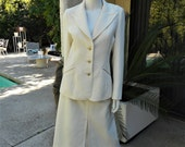 RESERVED FOR T - Vintage 1970's Adolph Schuman Off White Suit - Size 12