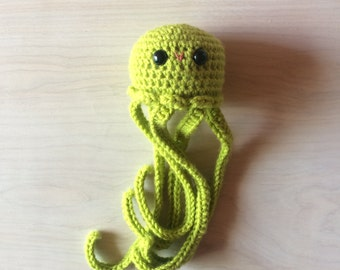 Amigurumi Jellyfish (keylime green)