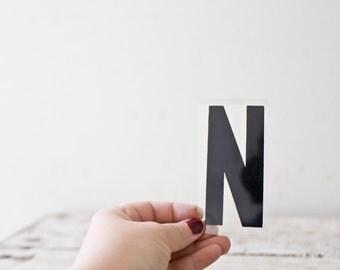Vintage Letter N - Black Marquee Plastic Letter N Vintage Marquee Sign Vintage Sign N Sign