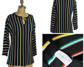 1970s Rainbow Stripe Top