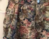 Floral Crop Jeans Vintage Plus Size 14 Flower Print Denim Pants Highwaisted 31 Waist