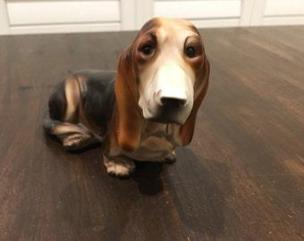 Norleans Basset Hound Dog figurine ceramic vintage