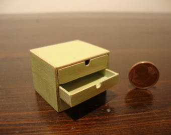 miniature dollhouse Mini chest with drawers that open