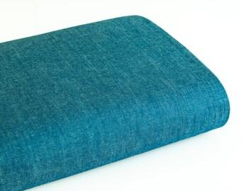 Cotonnade coloris bleu denim souple - 50 cm
