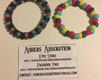 AUTISM AWARENESS Beaded Stretch Bracelets  - April is Autism Awareness Month