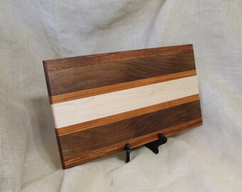 Hardwood Cutting Board or Carving Board in Tali, Walnut, Maple and Canary Woods