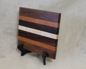 Cheese / Sushi Board Striped with Pennsylvania Hardwoods Walnut, Cherry and Maple