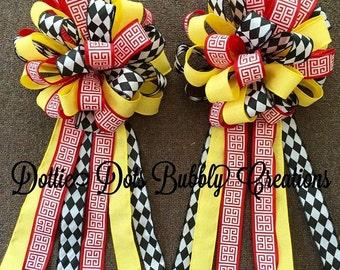 Spring Bow, Accent Bow, Lavender Bow, Birdhouse Bow, Bow, Porch Rail Bow, Mailbox Bow, Wreath Bow