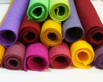Eclectic 13 Color Pack Wool Felt Blend Sheets