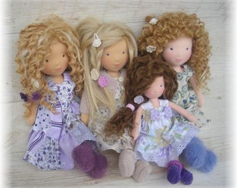 JUNE 2017 - Custom Waldorf  Doll Deposit for 15, 17, 19 inches doll