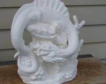 Ceramic Bisque Water Dragon