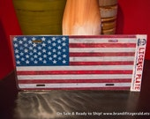 SALE American Flag Metal License Plate - Ready to Ship - Includes FREE shipping