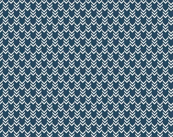 Sea Arrows on Navy Blue from Riley Blake's By The Sea Collection by My Mind's Eye