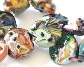 A Touch of Magic (Nine Beads) - Handmade Lampwork Glass Beads  -SRA