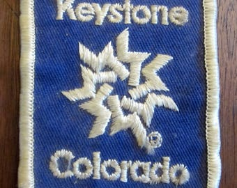 Keystone Colorado Used Award Patch Badge Blue White